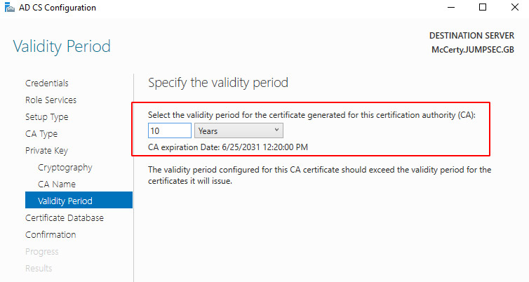 certificate based persistence Active Directory